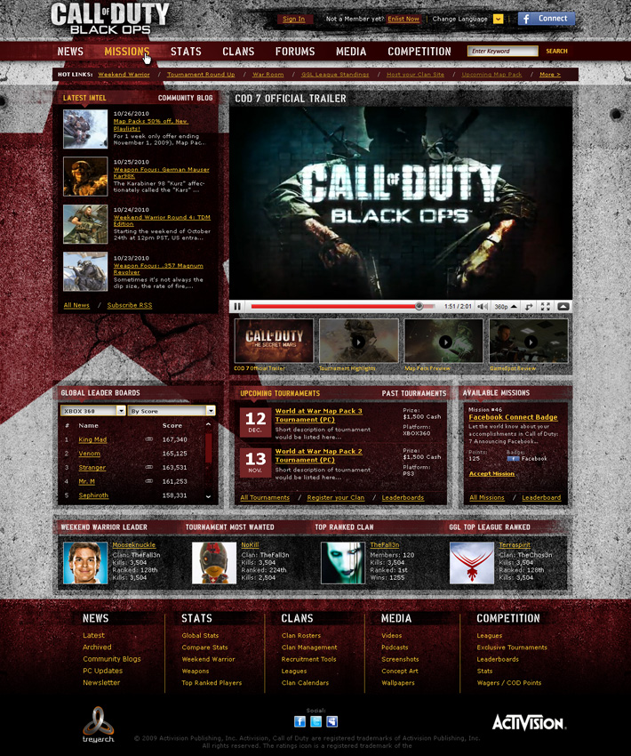 Activision - Call of Duty Concept