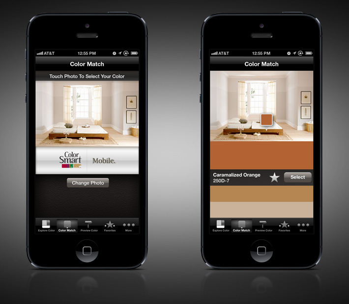Behr Colorsmat Mobile Application