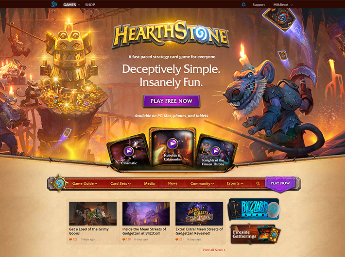 Blizzard - Hearthstone - New Player Portal
