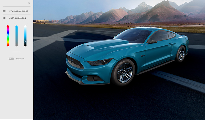 Ford Mustang Customizer