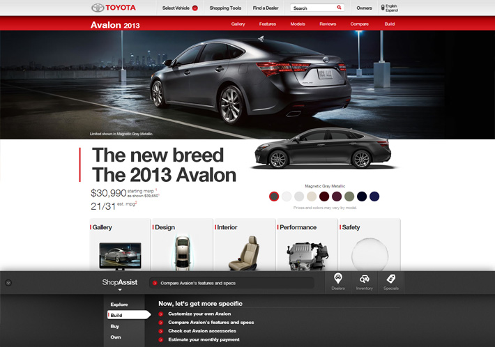 Toyota.com Shop Assist